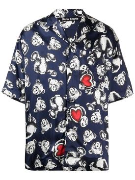 Bear in love bowling shirt, navy