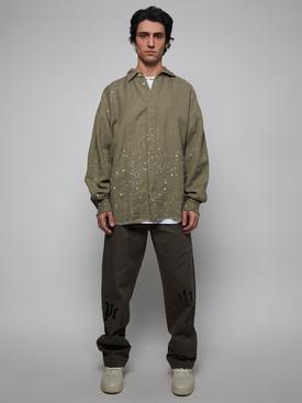 Organic loose paint splatter shirt