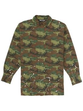Paint Splatter Camo Loose Shirt