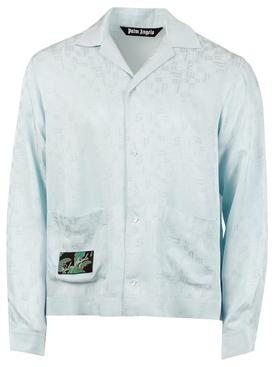 Monogram pajama shirt, light blue