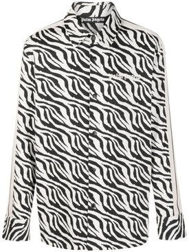 ZEBRA JACQUARD SHIRT BLACK AND WHITE