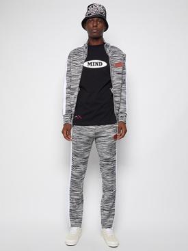 X Missoni Knitted Track Jacket Grey Melange