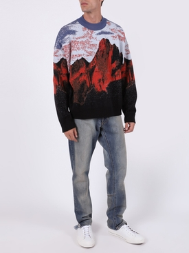 MULTICOLORED CANYON PRINT SWEATER