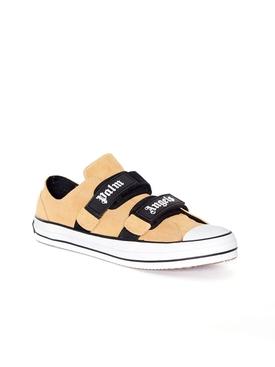 Vulcanized velcro strap sneakers SAND/WHITE