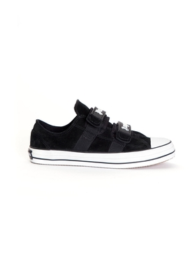 Vulcanized velcro strap sneakers BLACK/WHITE