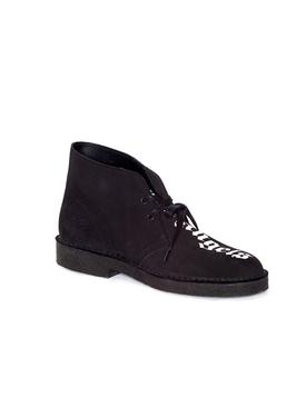 x Clarks Logo desert boots BLACK/WHITE