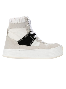 High-top snow boots WHITE/BLACK