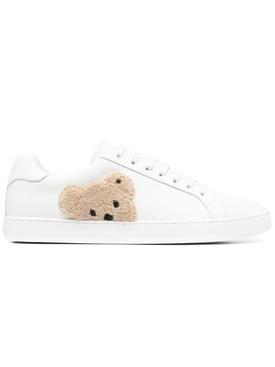 New teddy bear low-top tennis sneaker, white