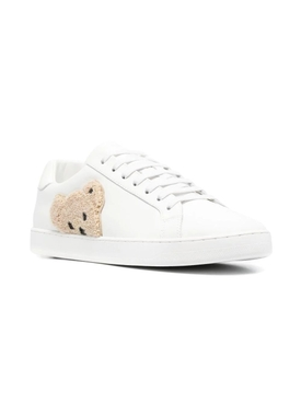 New teddy bear low-top tennis sneaker, white