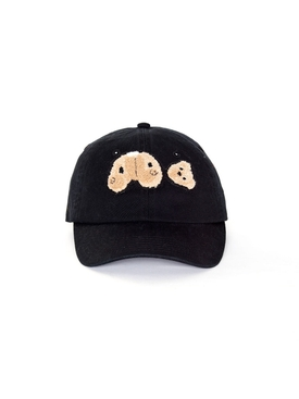 Bear baseball hat black
