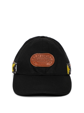 X Missoni Heritage Knit Tape Cap Black