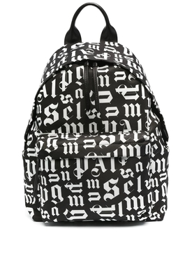 Broken monogram backpack BLACK