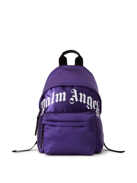 CURVED LOGO BACKPACK PURPLE AND WHITE