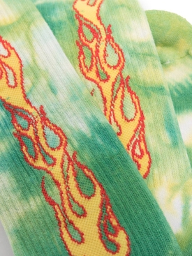 Tie dye flames socks