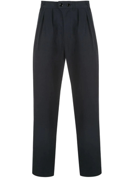 Navy pleated pants