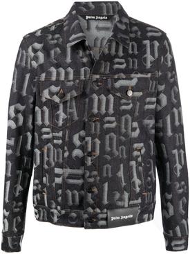 Broken monogram denim jacket