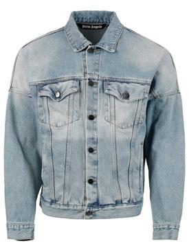 Pirate bear classic denim jackets, light blue