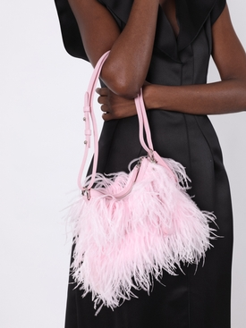 Ostrich feather bag PINK
