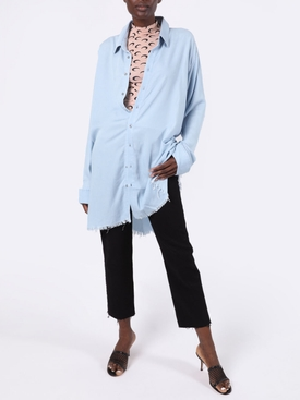 Light blue over-sized shirt