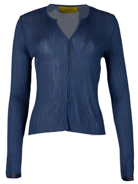 Fitted Cardigan Deep Blue BLUE