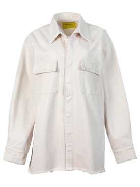 Organic cotton overshirt beige