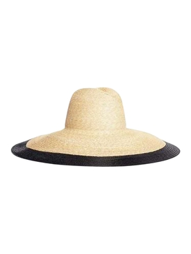 Mimi Wide Brim Straw Hat BLACK