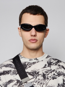 Crepuscolo Oval Lens Sunglasses, Black