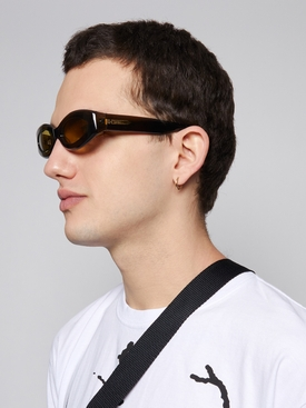 Crepuscolo Oval Lens Sunglasses, Cardamom and Warm Olive