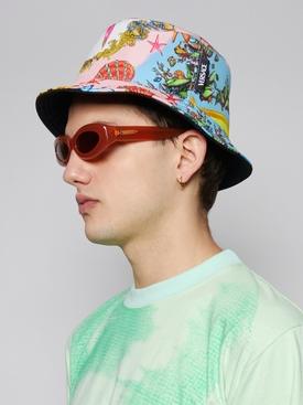 Crepuscolo Oval Lens Sunglasses, Saffron and Tobacco