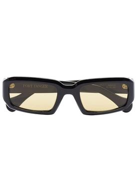 Mektoub rectangular sunglasses, black