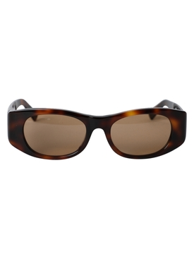 Tangerine Tortoiseshell square sunglasses
