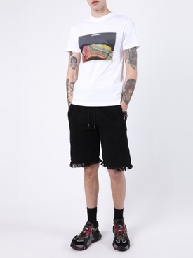 Towel jacquard print shorts BLACK