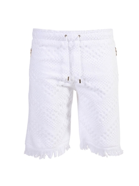 Towel jacquard print shorts WHITE