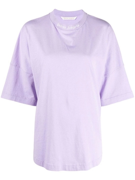 CLASSIC LOGO TEE LILAC AND WHITE