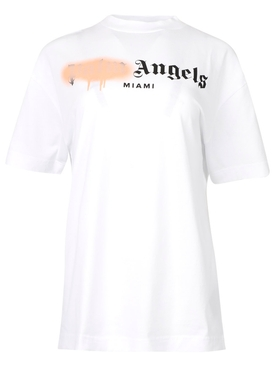 MIAMI SPRAYED T-shirt white and pink