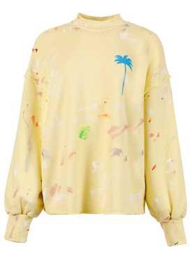 PXP Painted Crewneck Sweatshirt, Baby Yellow