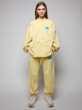 PXP Painted Crewneck Sweatshirt, Baby Yellow