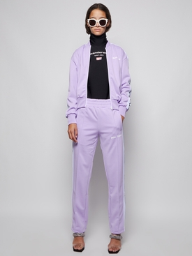 CLASSIC LOGO TRACK PANTS LILAC AND WHITE