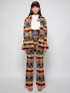 X Missoni Knit Button Up Shirt Multicolor