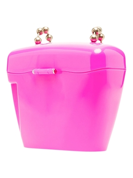 MINI PADLOCK SHOULDER BAG FUCHSIA AND WHITE