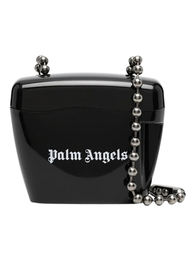 MINI PADLOCK SHOULDER BAG BLACK AND WHITE