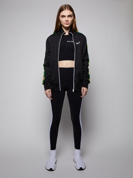 TRACK TRAINING LEGGINGS, BLACK AND WHITE