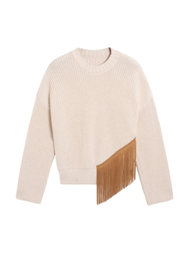Off-white fringe sweater