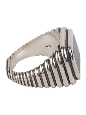 Grandia Rect Lira Onyx Ring