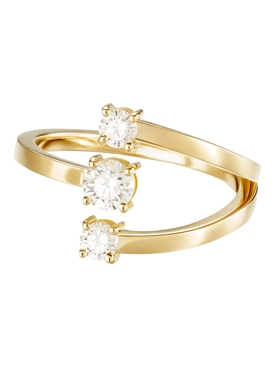 18K Yellow Gold Aria Moon Ring