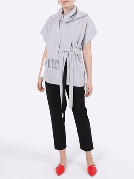 Draped cashmere top
