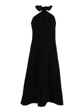 Cady Knotted Midi Dress Black