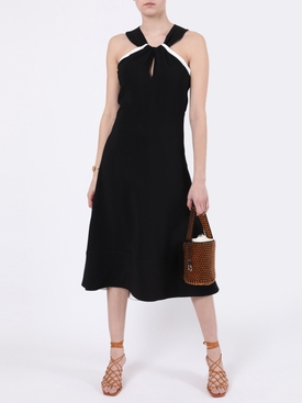 Cady Knotted Midi Dress Black