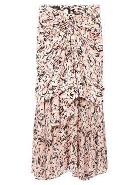 Proenza Schouler - Pink Abstract Layered Midi Skirt - Women