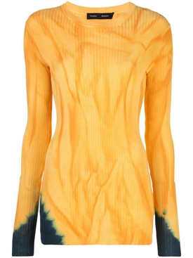 Orange and blue tie-dye top